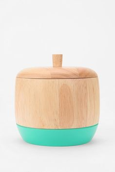 dipped-wood-box, love the turquoise color