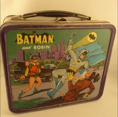1966 Batman and Robin Metal Lunch Box