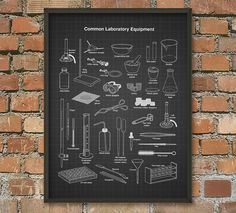Laboratory Equipment Wall Art Poster by QuantumPrints on Etsy