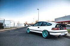 honda-crx-white-blue-5 - Rides & Styling