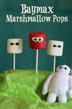 #BigHero6Release #ad Baymax Marshmallow Pops