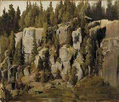 Fanny Churberg (Finnish, 1845 - Weathered rocks (via Finnish National Gallery) Helene Schjerfbeck, Chur, Cool Landscapes, Landscape Paintings, Weather Rock, Nordic Art, Canadian Art, Helsinki, Minneapolis