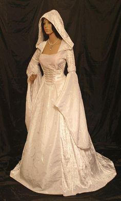 Medieval and Renaissance Wedding Dresses | medieval renaissance dress 028 opt jpg medieval dress with hood in ...