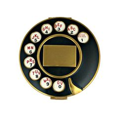 Yes, once phones had a round dial//Salvador Dali for Schiaparelli HC Telephone Compact, Fall 1935