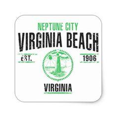 #Virginia Beach Square Sticker - #beach #travel #beachlife