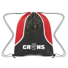 ec34f0f88e3 Clear Pocket Drawstring Backpack - Available in popular school colors
