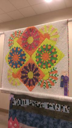 Abby's dresden quilt 4-H quilt 2014 entered Deschutes  County Fair