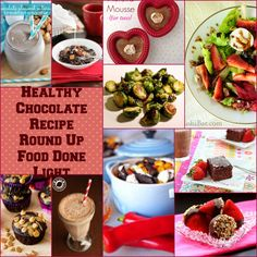 healthier chocolate recipe round up www.fooddonelight.com #chocolaterecipes #healthyrecipes