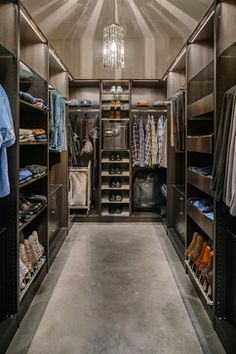 Contemporary Closet. Great space for a guy?