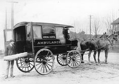 Vancouver General Hospital ambulance, 1902 Source: City of Vancouver Archives #Trans P116
