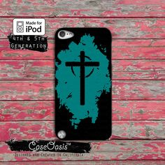 Christian Cross Blue And Black Jesus Religion Case by CaseOasis