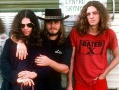 Gary Rossington, Ronnie Van Zant, and Allen Collins of Lynyrd Skynyrd.
