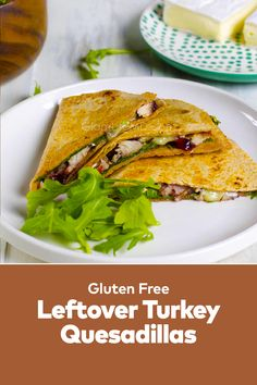 Leftover Turkey Quesadilla is a quick and easy homemade quesadilla lunch and dinner recipes that you can make anytime. It can also be served as a quesadilla dinner. Best Lunch Recipes, Dinner Recipes, Leftover Turkey, Arugula, Lunches And Dinners, Delish, Easy Meals, Homemade, Quesadillas