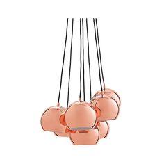 Ball függőlámpa multi réz – Függőlámpák - ID Design Kiegészítők - Lámpa