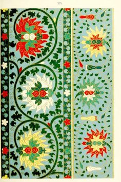 Examples of Chinese ornament, selected from objects in the South Kensington Museum and other collections : [estampe] / by Owen Jones -- 1867 -- images Chinese Patterns, Ethnic Patterns, Textile Patterns, Print Patterns, Floral Patterns, Textile Design, Paper Patterns, Chinese Ornament, Owen Jones