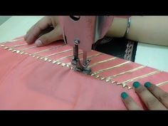 Salwar Poncha Design with Gotta Patti Lace || Salwar Mohri Design making - YouTube