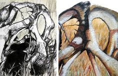 Exceptional painting and drawing projects by Art students studying qualifications such as GCSE, IGCSE, A Level, NCEA, IB and AP Visual Art. Natural Forms Gcse, Natural Form Art, Figure Drawing, Painting & Drawing, Day Of The Dead Artwork, School Painting, Drawing Projects, Portfolio Ideas, Arts Ed