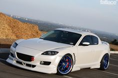 Nation Stance Hella Flush | po crew's white rx8 with blue volks | KL-fornication
