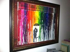 I already pinned the melted-crayon-art.but neat to ensure a space is left for this image Diy Arts And Crafts, Cute Crafts, Diy Crafts, Crayon Art, Melting Crayons, Crafty Craft, Looks Cool, Artsy Fartsy, Art Projects