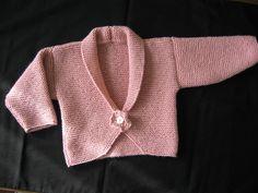 Ravelry: Baby Girl Peonie Garter Stitch Cardigan pattern by Audrey Wilson (DK weight) Knitting Baby Girl, Baby Boy Knitting Patterns, Baby Sweater Knitting Pattern, Cardigan Pattern, Knitting For Kids, Knitting Designs, Baby Patterns, Knit Patterns, Crochet Baby