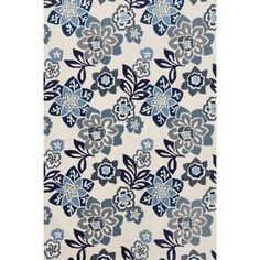 An exquisite floral pattern emerges from the hand-tufted rug in the Blue Liora Manne Ravella Floral Indoor / Outdoor Rug. A durable acrylic and polypropylene rug, this one is designed for indoor or outdoor use. It adds a whimsical element to any space. Floral Area Rugs, Blue Area Rugs, Hand Tufted Rugs, Rectangular Rugs, Rectangle Area, Rugs Usa, Blue China, Indoor Outdoor Area Rugs, Rugs Online