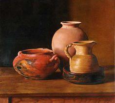 Tonos Pardos, óleo sobre lienzo, 70x70 cm, 1997. www.juanlascano.com.ar 3d Painting, Pottery Painting, Oil Painting On Canvas, Pottery Art, Mexico Art, Still Life Art, Global Art, Beautiful Paintings, African Art