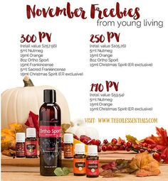 Young Living November 2015 Promotion