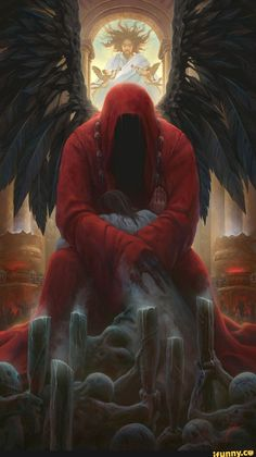 New Fallen Angel Tattoo Demons Gothic Art 69 Ideas Dark Fantasy Art, Fantasy Kunst, Dark Art, Dark Gothic, Gothic Art, Reaper Drawing, Archangel Tattoo, Grim Reaper Art, Angel Warrior