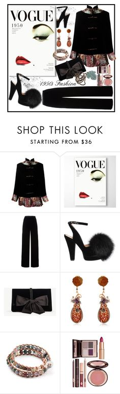 """""""1950s Fashion Contest Entry...#2"""" by onesweetthing ❤ liked on Polyvore featuring T By Alexander Wang, Sonia Rykiel, Ann Taylor, Wendy Yue and Charlotte Tilbury"""