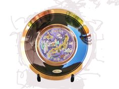 24 K Chokin Plate with Stand by SanMonet on Etsy, $25.00