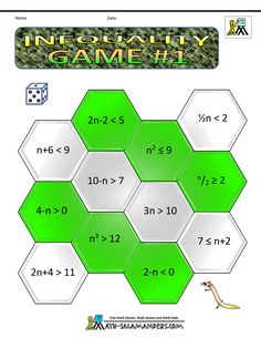 algebra maths games inequality game 1