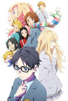 ภาพคีย์วิชวลเพลงรักสองหัวใจ「Shigatsu wa Kimi no Uso」TV Anime ช่วงที่ 2 (ครึ่งหลัง) มี 22 ตอนจบ http://www.kimiuso.jp