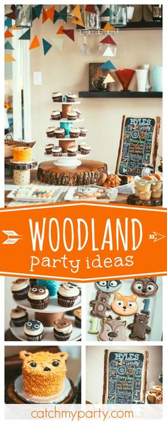 Don't miss this adorable woodland animal camping birthday party. The animal cookies are so cute!! See more party ideas and share yours at CatchMyParty.com