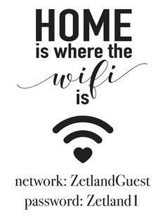Home is where the wifi is CUSTOM Wifi by VividBlissPrintables