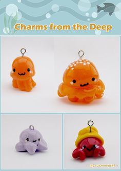 little polymer clay charms