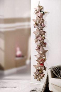 Calendario de adviento | Estilo Escandinavo Christmas Countdown, Christmas Calendar, Christmas Holidays, Christmas Crafts, Christmas Ornaments, Advent Calenders, Diy Advent Calendar, Yule Crafts, Christmas Decorations For The Home