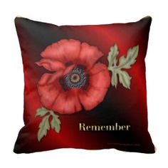 Shop Remember Poppy Throw Pillow created by CanadianGear. November 11 Remembrance Day, Custom Pillows, Knitted Fabric, Poppies, Throw Pillows, Knitting, Armed Forces, Brave, Freedom