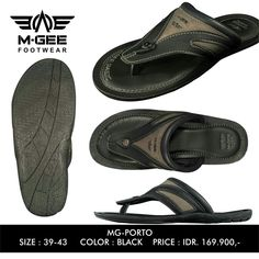 M-GEE FOOTWEAR  MG-PORTO Black with color outsole