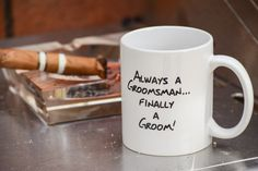Finally A Groom Coffee Mug by The Chic Factory