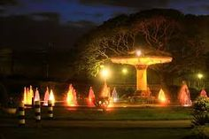 The Brindavana Gardens is a garden located in the state of Karnataka in India. It lies adjoining the Krishnarajasagara dam which is built across the river Kaveri. The work on laying out this garden was started in the year 1927 and completed in 1932.