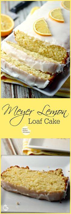 Meyer Lemon Loaf Cake | Renee's Kitchen Adventures:  Moist, lemony and absolutely wonderful.  One of the BEST lemon cake I have made!