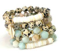 Kinsley Bracelet Set, Stack Bead Bracelet, Druzy Bracelet Set, Gemstone Bracelet Set of Chucky Elastic Bracelet, Boho Jewelry Boho Jewelry, Gemstone Jewelry, Beaded Jewelry, Jewelry Ideas, Making Jewelry For Beginners, Jewelry Making, Cute Bracelets, Beaded Bracelets, Stretch Bracelets