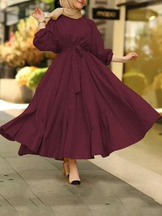 Modest Fashion Hijab, Modern Hijab Fashion, Muslim Women Fashion, Modesty Fashion, Islamic Fashion, Fashion Dresses, Maxi Dresses, Stylish Dresses For Girls, Stylish Dress Designs