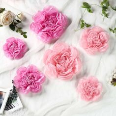 6 pcs 7 9 11 inches Blush and Pink Paper Peony Tissue Flowers Pink Wedding Decorations, Diy Wedding Flowers, Wedding Flower Arrangements, Flower Decorations, Floral Wedding, Aisle Decorations, Wedding Ideas, Decor Wedding, Wedding Details