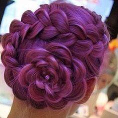 dutch flower braid - WAY easier than it looks!