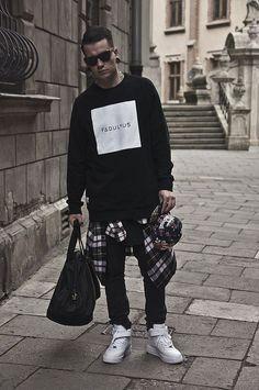 Fabulous. Streetwear. Style. Attitude. Black & White. Men. Fashion. Brand. Hundreds. Cap. Concrete. City. Youth. Layers. Sneakers. Modern.