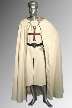 The crusader dress was characterized by the new fabrics and printing pattern techniques that were brought back from their conquests. Muslin, dimity, silk damask, and cotton became popular. Mode Renaissance, Renaissance Pirate, Renaissance Clothing, Renaissance Fashion, Historical Clothing, Historical Dress, Medieval Cloak, Medieval Costume, Renaissance Costume