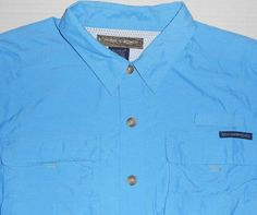 EXOFFICIO Mens Blue Vented Outdoor Fishing Hiking Camping Shirt  XXL 2XL L/S #ExOfficio #ButtonFrontShirt
