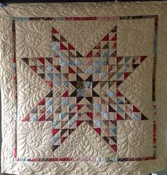 Star by Jessica's Quilting Studio, via Flickr - lone star quilting idea love the quilting!!