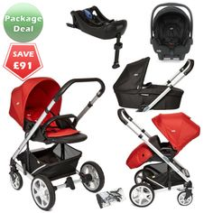 Joie Chrome Plus Package Deal Tomato Red The Joie Chrome Plus pushchair is the newest model of the popular baby pram, suitable from birth and features a reversible seat unit with recline. It's also compatible wih the Joie Gemm infant car seat to form a travel system, and the Joie carrycot to create a cosy pram for newborns.  http://www.kidsstore.co.uk/webshop/prams-buggies-car-seats/travel-systems/joie-travel-systems/joie-chrome-plus-package-deal-tomato-red/